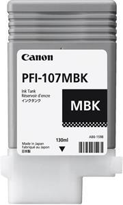 Canon PFI-107MBK, čierna, 130ml