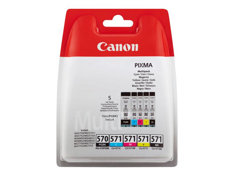 Canon PGI-570/CLI-571, PGBK/C/M/Y/BK , multi pack
