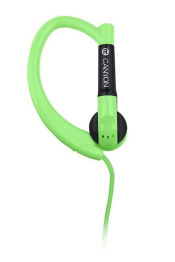 Canyon CNS-SEP1G, slúchadlá pre športovcov, háčik za ucho, zelené