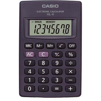 Casio HL-4 kalkulačka vrecková, čierna