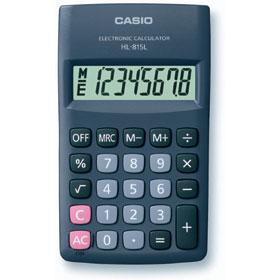 Casio HL 815L BK kalkulačka vrecková, čierna