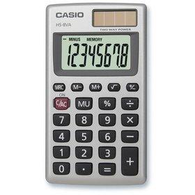 Casio HS 8 VA kalkulačka vrecková, strieborná