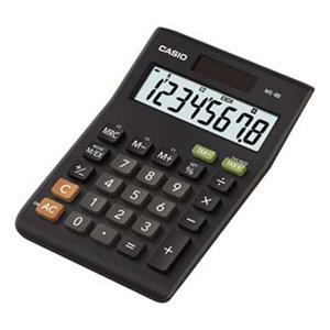 Casio MS 8 B S, kalkulačka, čierna, stolná s výpočtom DPH, osemmiestna