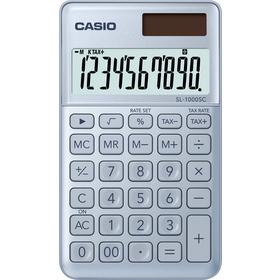 Casio SL 1000 SC kalkulačka vrecková, svetlo-modrá