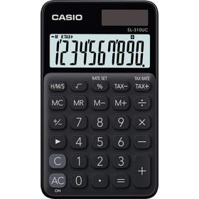 Casio SL 310 UC BK kalkulačka vrecková, čierna