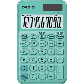 Casio SL 310 UC GN kalkulačka vrecková, tyrkysová
