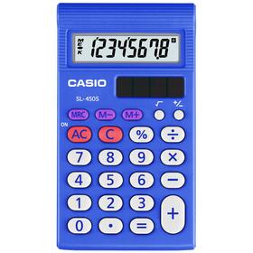 Casio SL 450 S kalkulačka vrecková, modrá
