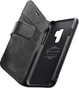 Cellularline Supreme prémiové kožené puzdro typu kniha pre Samsung Galaxy S9 Plus, čierne