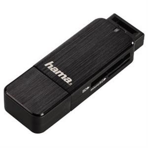 Čítačka kariet HAMA USB 3.0 SD/microSD čierna