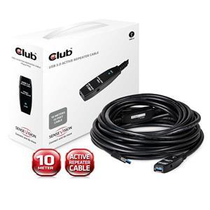 Club3D USB3.0 A-A aktívny kábel M/F, 10.0m, predlžovací