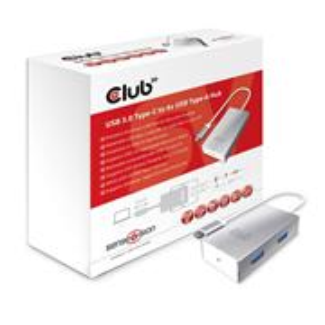 Club3D USB3.1C/4xUSBA USB hub + rýchlonabíjanie