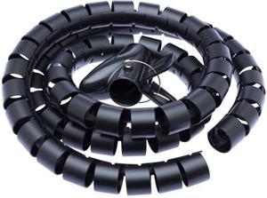 CONNECT IT trubica pre vedenie káblov WINDER, 1,5m x 30mm čierna