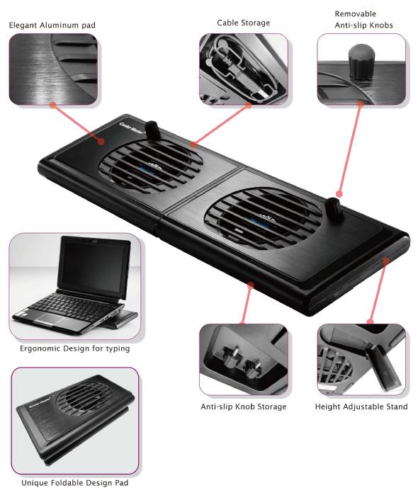 8ade4eff3 Cooler Master NotePal P2 slim, chladiaca podložka, čierna   VYPREDAJ ...