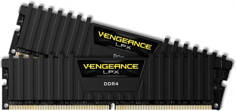 Corsair Vengeance LPX, 2x8GB, 2400MHz, DDR4, CL16, Black