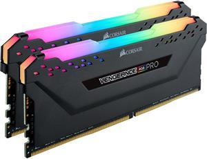 Corsair Vengeance RGB Pro, DDR4, DIMM, 3200 MHz, 32 GB (2x 16 GB kit), CL16, XMP 2.0, 1.35 V, čierna