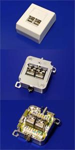 Datacom dvojzásuvka nad omietku 2xRJ45, Cat6 FTP