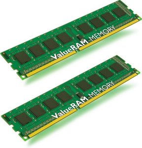 DDRAM3 2x2GB Kingston 1333MHz Non-ECC CL9 DIMM (Kit of 2)