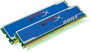 DDRAM3 2x4GB Kingston 1600 CL9 HyperX Blu XMP (KHX1600C9D3B1K2/8GX)