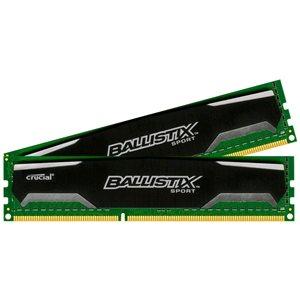 DDRAM3 8GB (2x4GB) Crucial Ballistix 1600MHz CL9 (9-9-9-24) 1.5V DIMM,