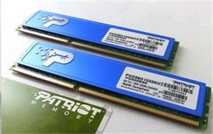 DDRAM3 8GB (2x4GB) Patriot 1333Mhz CL9,s chladičem