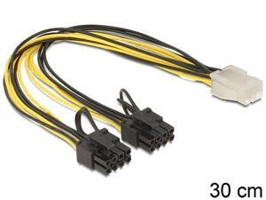 Delock PCI Express napájací kábel 6 pin samica > 2 x 8 pin samec 0,30m