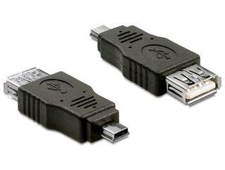 Delock USB2.0A-miniUSB2.0 OTG redukcia F/M, adaptér