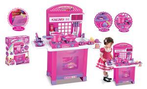 Detská kuchynka Superior s príslušenstvom, ružová