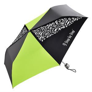 Detský skladací dáždnik, čierna/ sivá/ zelená