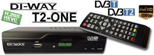 DI-WAY T2-ONE HEVC H.265 DVB-T/T2, FullHD PVR R