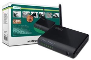 Digitus, USB 2.0 HUB, 4-portový, bezdrôtový multifunkčný sieťový server