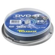 DVD-R Traxdata 10 pack 16X/4.7GB