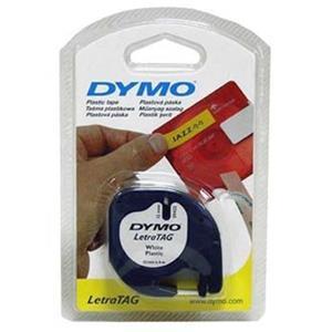 Dymo originál páska do tlačiarne štítkov, Dymo, 59421, S0721500, čierny tlač/biely podklad, 4m, 12mm, LetraTag papierová