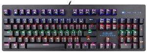 E-BLUE EKM757, herná, čierna, drôtová (USB), US, mechanická, podsvietená, s modrými spínačmi