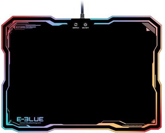 E-Blue podsvietená podložka pod myš, RGB, herná, čierna