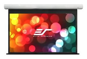 """ELITE SCREENS plátno elektrické motorové 110"""" (279,4 cm)/ 16:9/ 137,2 x 243,8 cm/ case bílý/ 12"""" drop/ Fiber Glass"""