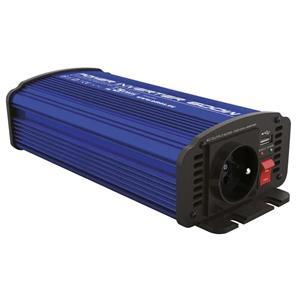 Emos N0037, menič napätia do auta 12V/230V, 600W, USB 2100mA