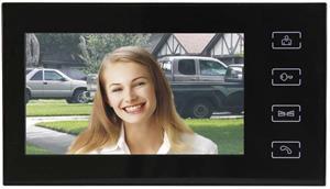EMOS RL-10, domáci videotelefón, bez kamerovej jednotky, čierny