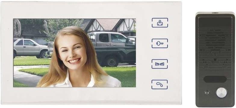 """EMOS RL-10B, domáci videotelefón 7"""", biely"""