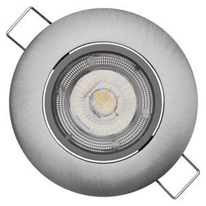 Emos ZD3222, LED bodové svietidlo strieborné Exclusive 5W neutrálna biela