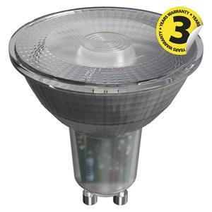Emos ZQ8333, LED žiarovka Classic 4,2W GU10 teplá biela