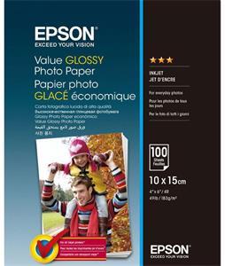 EPSON fotopapier 10x15 Value Glossy Photo Paper 100ks