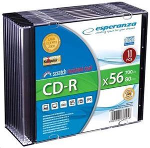 Esperanza CD-R slim jewel 700MB 56x Silver 1ks