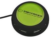 Esperanza EA135G YOYO Hub USB 2.0, 4 porty, zelený