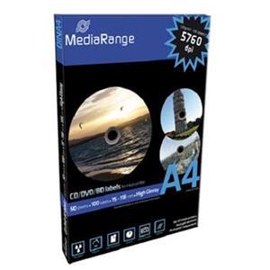 Etikety MediaRange 15mm-118mm 50listov 100 etiket High-Glossy