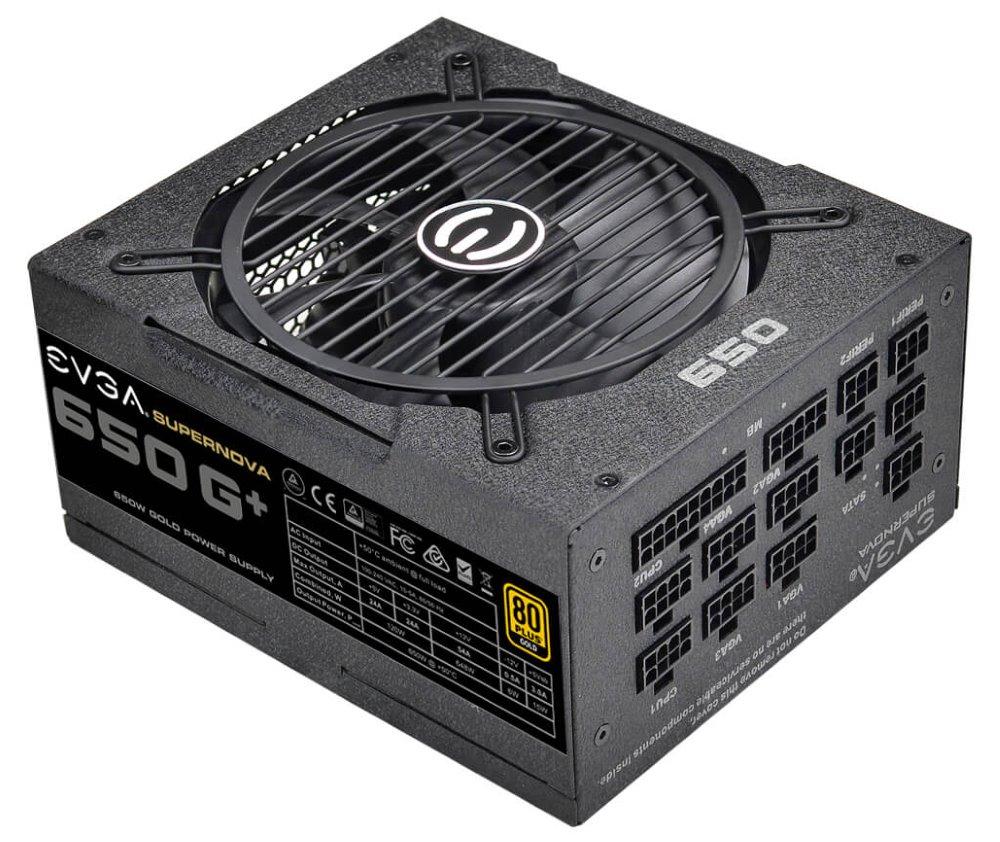 EVGA zdroj SuperNOVA 650 G+ 650W, 80 PLUS Gold, modulárný, 135mm