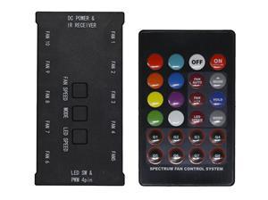 EVOLVEO C1, RGB FAN řadič pro ventilátor 12R1R + dálkový ovladač