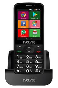 EVOLVEO EasyPhone AD, 4GB, Dual SIM, čierny