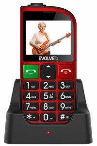EVOLVEO EasyPhone FM, Dual SIM, červený