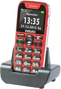 EVOLVEO EasyPhone, mobilný telefón pre seniorov, červený
