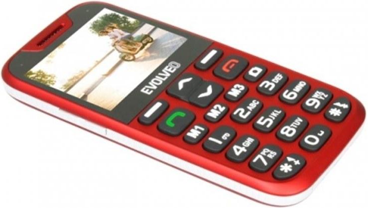 EVOLVEO EasyPhone XD, červený
